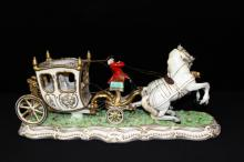 Porcelain Royal Carriage Figural Group