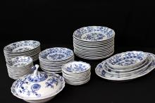 64 Pc. Meissen Blue & White China Set