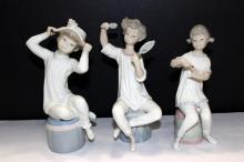 3 Pc. Lladro, Little Girls Porcelain Figurines