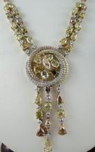 14Kt WG 40.00ct Sapphire & 0.95ct Round Diamond Bracelet