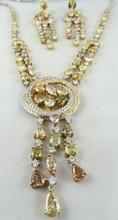Platinum 30.50ct Diamond EF-WS & 15ct Emerald Ladies Necklace