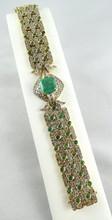 18Kt Womens Emerald & Diamond Bracelet