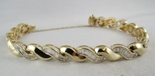 14Kt YG Diamond Bracelet
