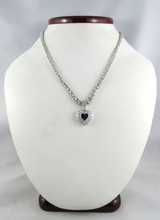 Platinum Women's Diamond Heart Necklace