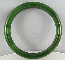 Exceptional Green Jade Bangle Bracelet