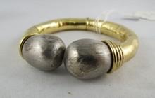18Kt YG Pearl Bangle Bracelet