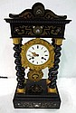 Antique French Mantle Clock Featuring Bronze & Mother of Pearl