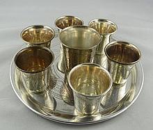 8 Pc. Russian 84 Silver Set