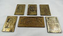 Collection of 6 Boris Schatz Bronze Plaques