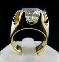14Kt YG CZ Gent's Ring