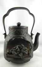Important Antique Chinese Bronze Tea Pot