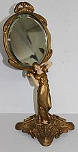 Bronze Royal Dux Style Vanity Mirror