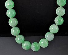 1950's Jadeite Jade Bead Necklace