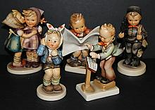 Collection of Five German Hummel Figures
