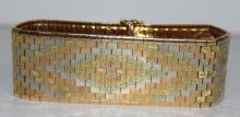 18Kt YG Italian Ladies Bracelet