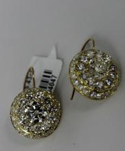 18Kt YG 5.43ct Diamond Earrings