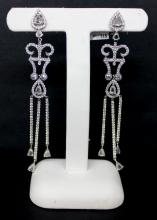 18Kt WG 7.71ct Diamond Earrings