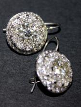 18Kt WG 5.63ct Diamond Earrings