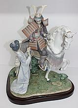 Lladro Spain Farewell of the Samurai Figure #1777