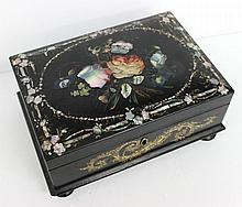 Lovely Lacquered & Mother of Pearl Jewelry Box
