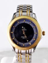 Rare Men's Two Tone Digital Omega Seamaster Watch