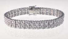 Contemporary 18k White Gold & Diamond Bracelet