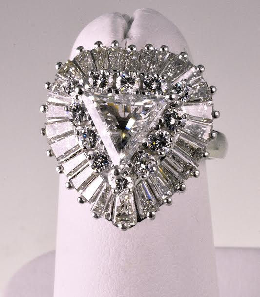 1970's Platinum & Diamond Fashion Ring/Pendant