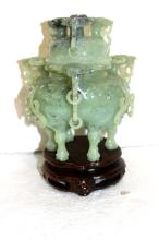 Chinese Water Buffalo Jade Incense Burner