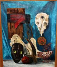 20th C. Native American Oil Painting