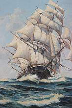 Eldred Clark Johnson (American b. 1926) Seascape Oil Painting