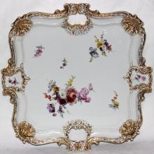 Meissen Hand Painted Porcelain Serving Tray