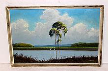 Willie Daniels (American b. 1950) Oil Painting on Masonite