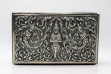 Thai Sterling & Wooden Jewelry Box