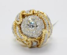 18Kt YG 2.50ct. Diamond Ring