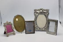 5 Pc. Sterling Silver Frames