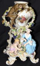Rare Meissen Hand Painted Porcelain Group
