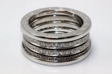 Bvlgari 18Kt WG B.Zero 1.20ct. Diamond Ring