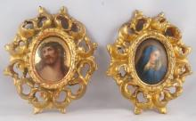 Pair of Religious European Porcelain Plaques