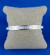 18Kt WG 5.00ct Diamond Bangle