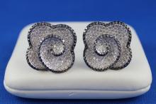 14K White Gold 8.22CT Diamond Cufflinks