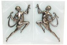 Pair of Art Deco Figural Wall Plaques