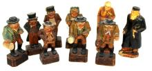 9 Pc. 19th C. Wooden Carvings