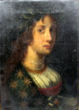 Antique Portrait Oil Painting on Canvas