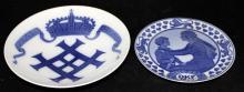 2 Pc. Royal Copenhagen Porcelain Collector Plates
