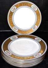 6 Pc. Hutschenreuther Bavaria Painted Porcelain Dinner Plates