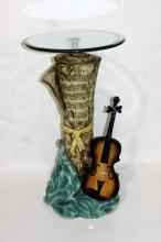Composite Sheet Music Violin Pedestal