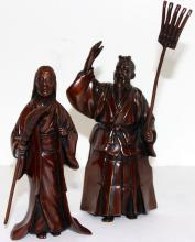 2 Chinese Bronze Farmers