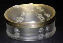 Vintage Lalique France Crystal Jewelry Casket
