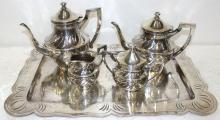 5 Pc. Silver Plated Tea Set