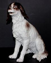 Antique German Porcelain Dog Figure